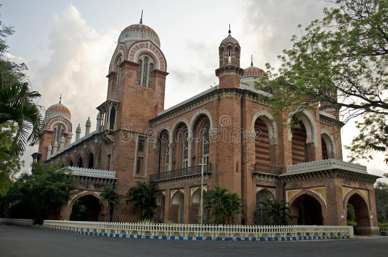 Madras universitet, Chennai, Tamil Nadu, Indien arkivbild
