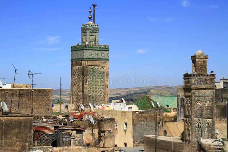 Madrasa Bou Inania royalty-vrije stock foto