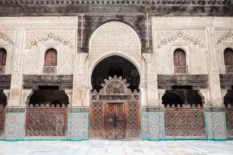 Madrasa Bou Inania imagem de stock royalty free