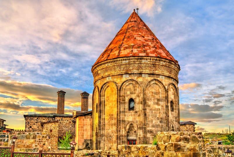 Madrasa gemella di Minaret a Erzurum, Turchia fotografia stock libera da diritti