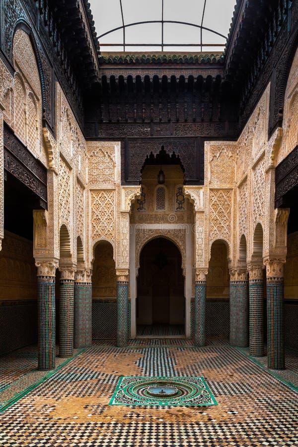 Madrasa Marinid Salé, Рабат-продажи, Марокко стоковое изображение rf