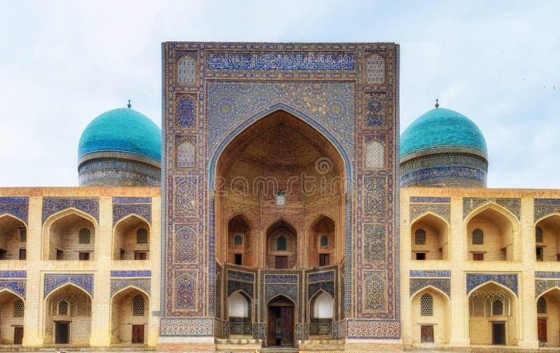 Madrasa mi-I-Arabier in Boukhara, Oezbekistan stock afbeelding