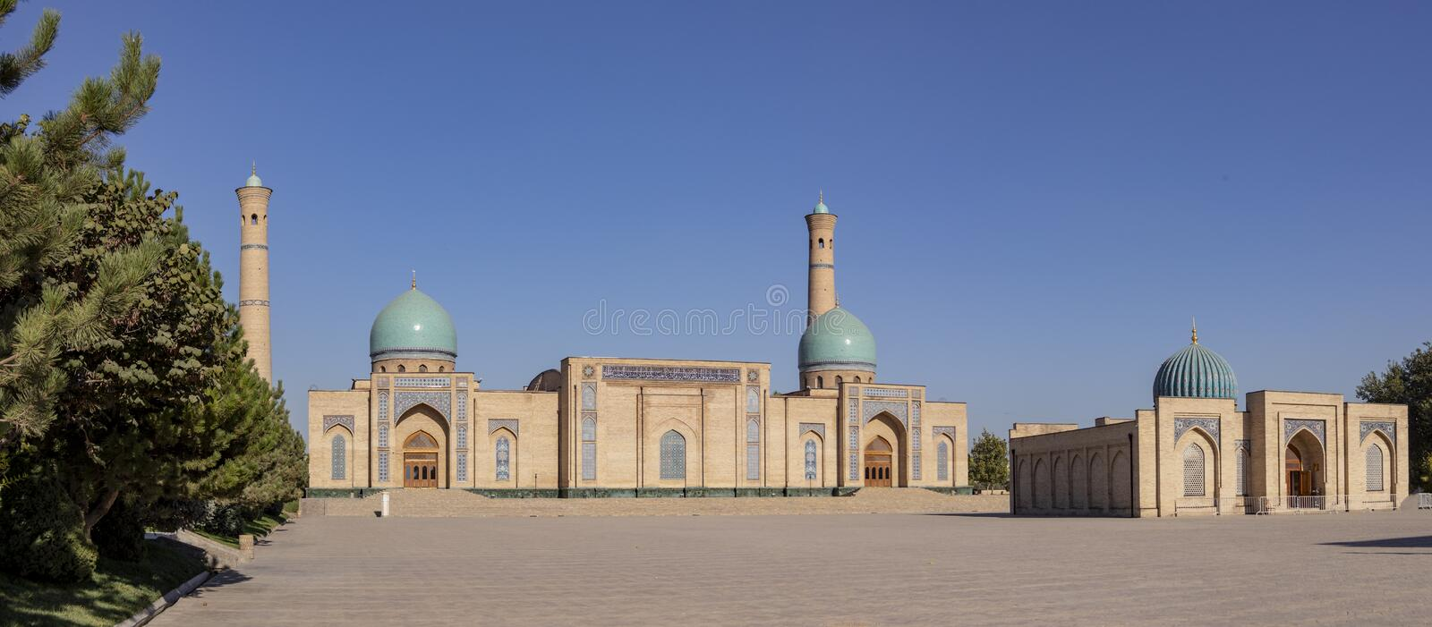 Madrasa and mosque in Old Town Tashkent, Uzbekistan royalty free stock photography