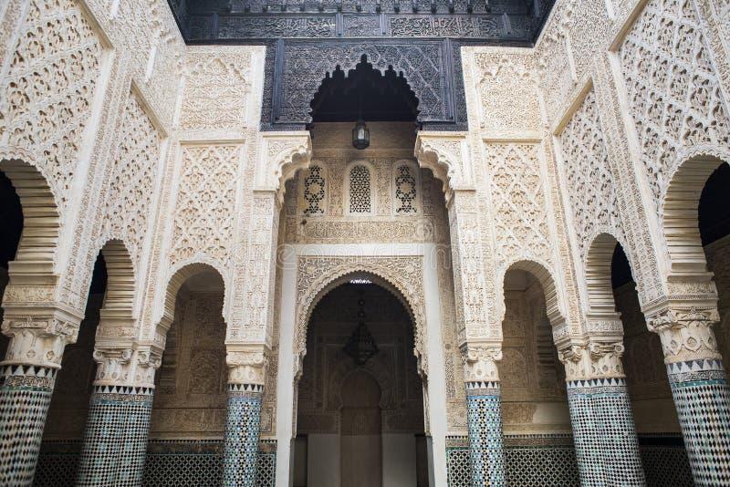 Madrasa van Salé, Rabat-Verkoop, Marokko stock afbeelding