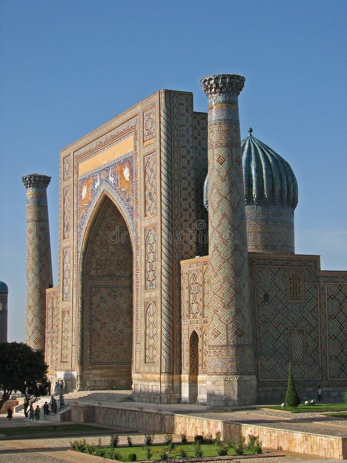 Madrasah Sher Dor in Samarkand lizenzfreie stockbilder