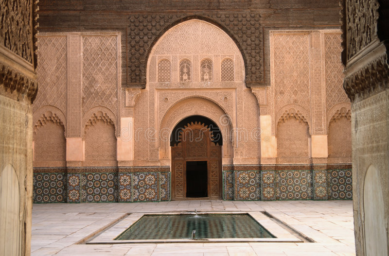 madrassa Μαρακές στοκ φωτογραφία με δικαίωμα ελεύθερης χρήσης
