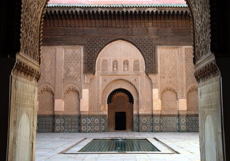 Download Madrassa en Marrakesh foto de archivo. Imagen de áfrica - 7276742
