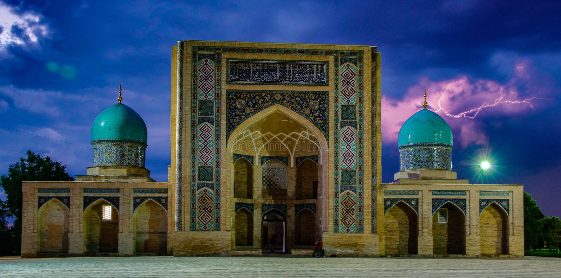 Madrassa i Tasjkent, Uzbekistan arkivfoton