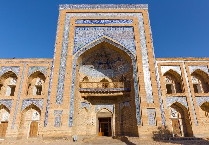 The madrassah of Muhammad Rahim-khan, in Khiva, Uzbekistan. The madrassah of Muhammad Rahim-khan, located opposite the gates of Kunya-Ark, in Khiva, Uzbekistan royalty free stock images