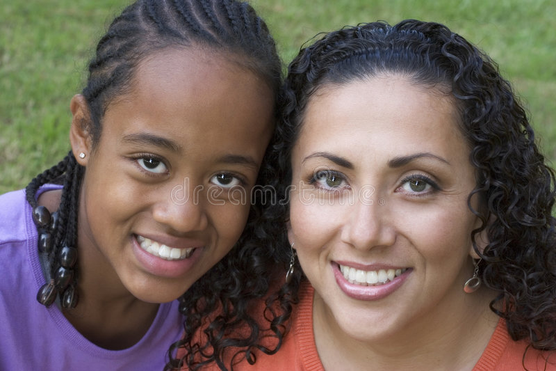 Madre & figlia fotografie stock