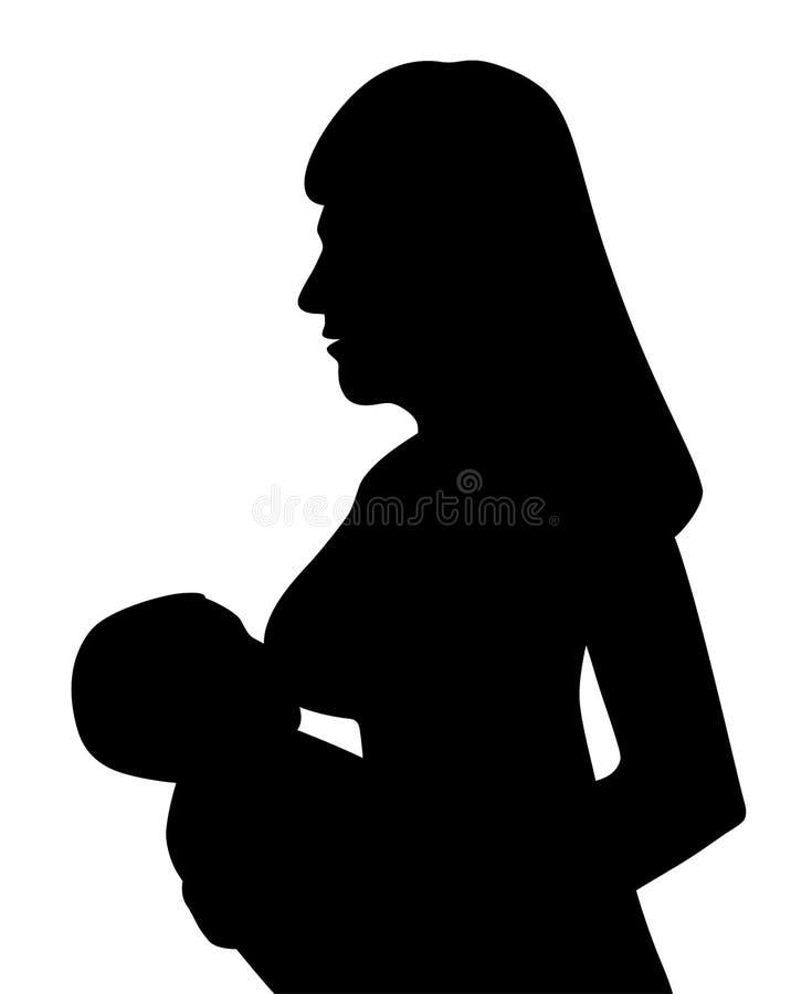 Madre che allatta al seno il suo bambino illustrazione di stock