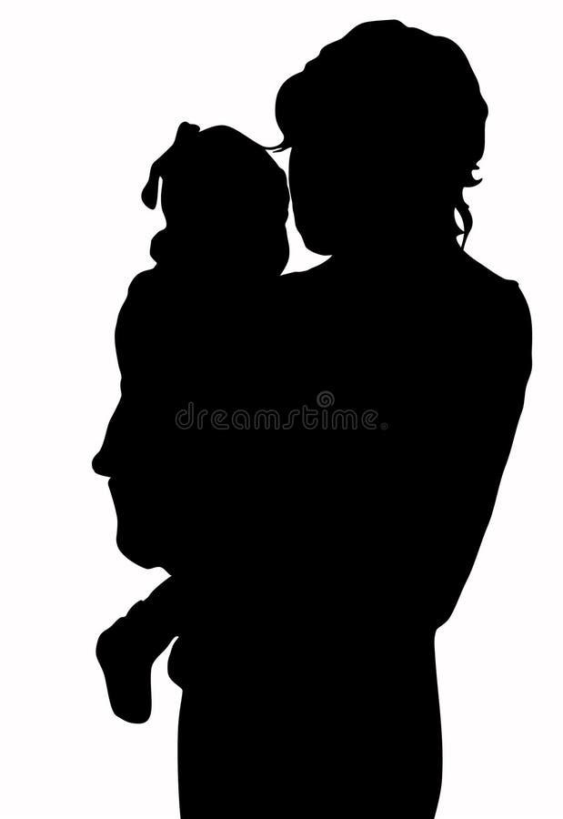 Madre con el bebé ilustración del vector