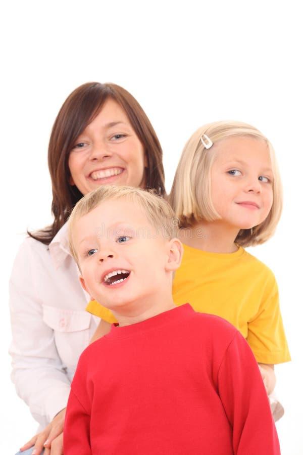 Madre con i bambini fotografia stock