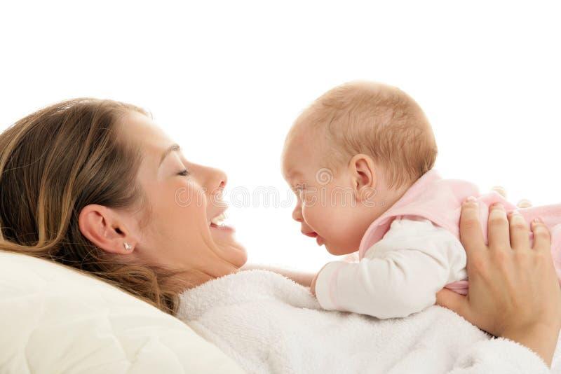Madre con il bambino immagine stock