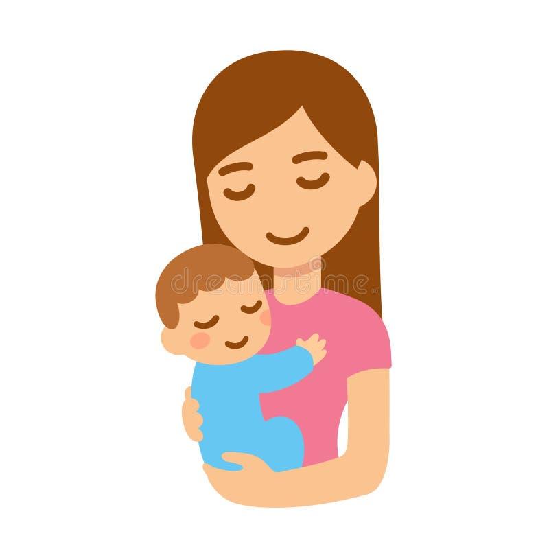 Madre con il bambino illustrazione di stock