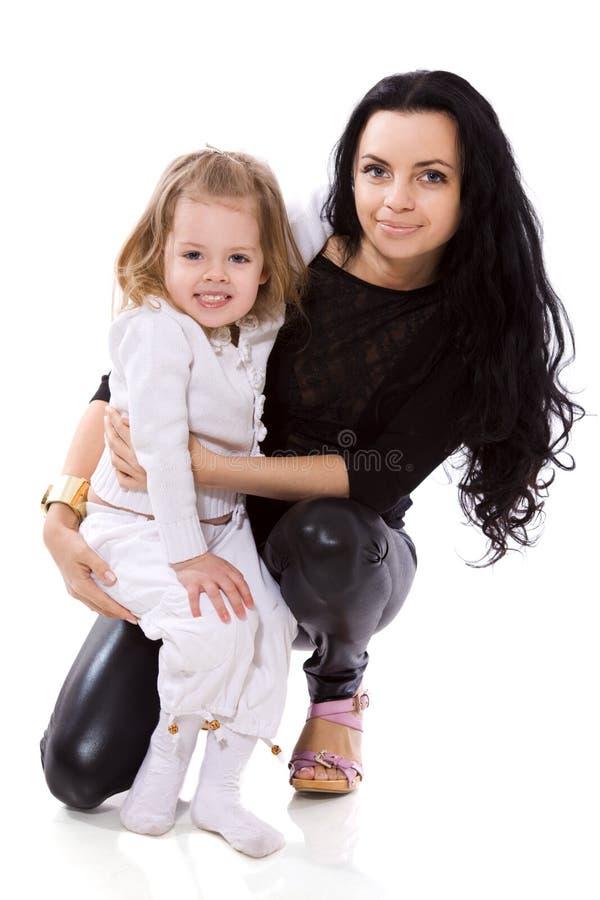 Madre con la figlia immagine stock