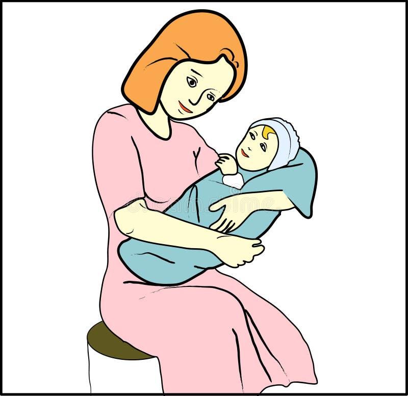 Madre con la ilustración del niño libre illustration