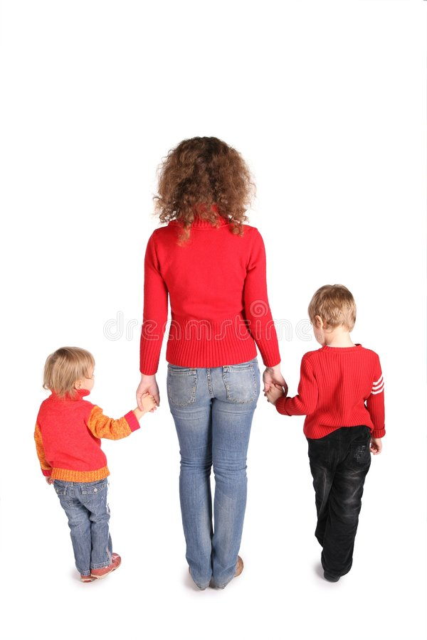 Madre con los niños imagen de archivo libre de regalías
