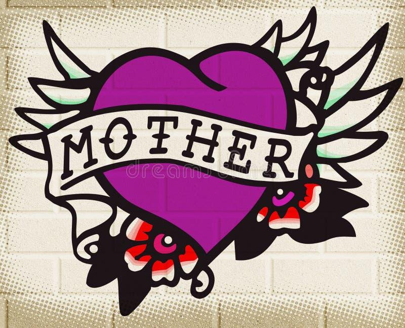 Madre del corazón ilustración del vector