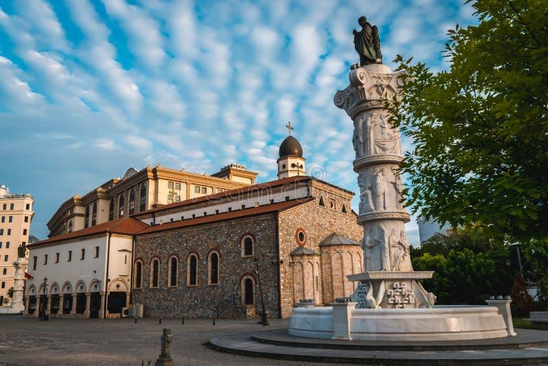 Madre della st della chiesa di Dio, Skopje, Repubblica Macedone fotografie stock