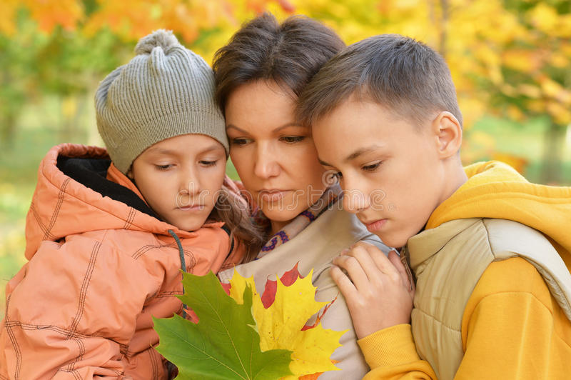 Madre, derivato e figlio fotografia stock