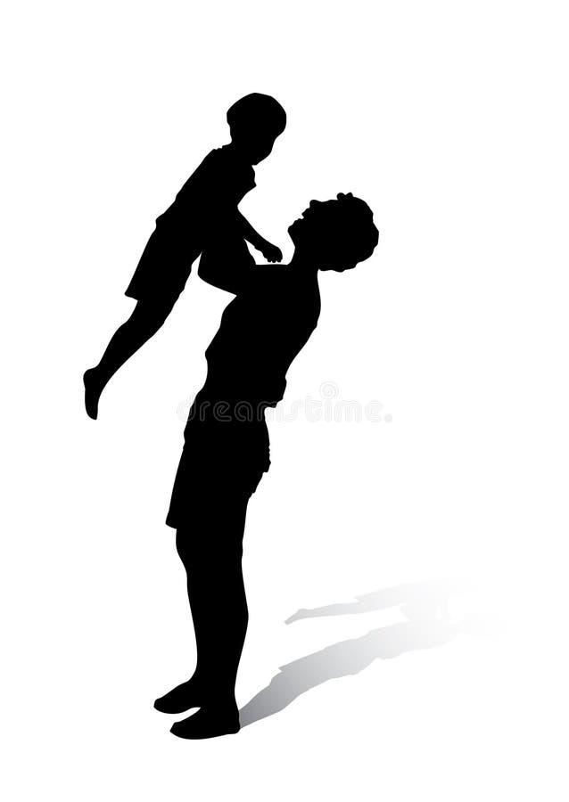 Download Madre e bambino illustrazione vettoriale. Illustrazione di svago - 3141860