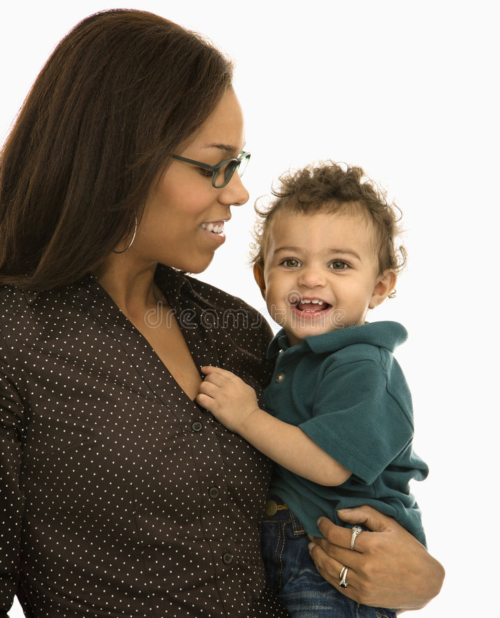Madre e bambino. fotografia stock