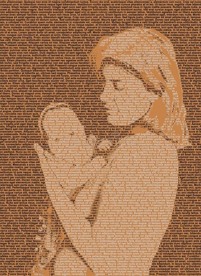 Madre e bambino del testo illustrazione di stock