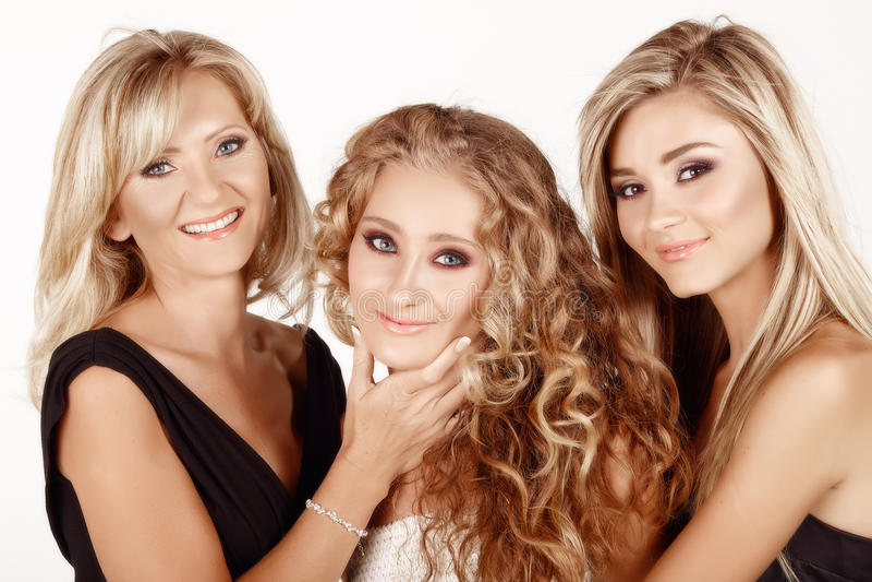 Madre e due figlie. fotografia stock