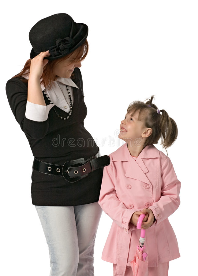 Madre e figlia fotografie stock libere da diritti
