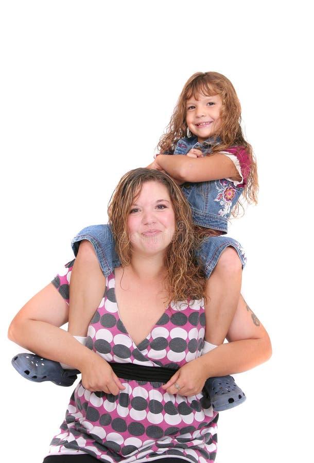 Download Madre e figlia insieme immagine stock. Immagine di isolato - 7306005