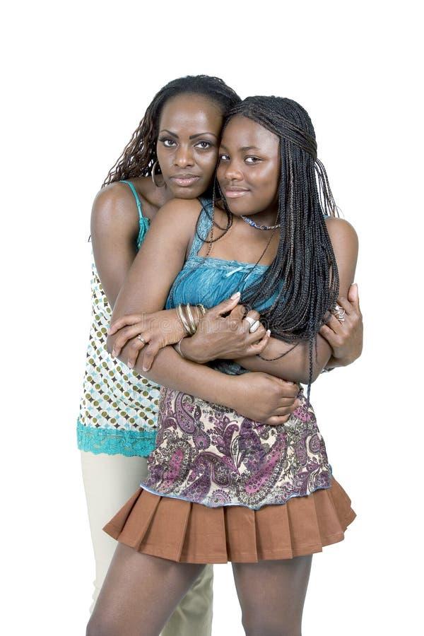 Madre e figlia teenager fotografia stock libera da diritti