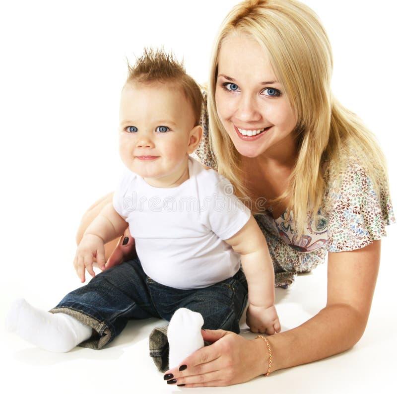 Madre e figlio fotografia stock