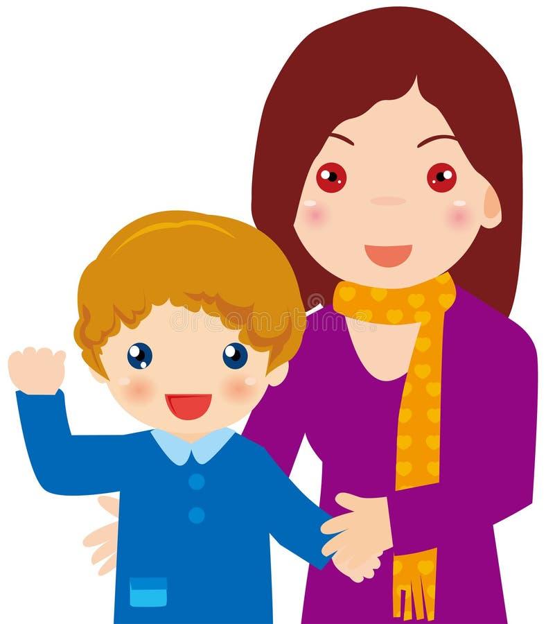 Madre e figlio illustrazione vettoriale