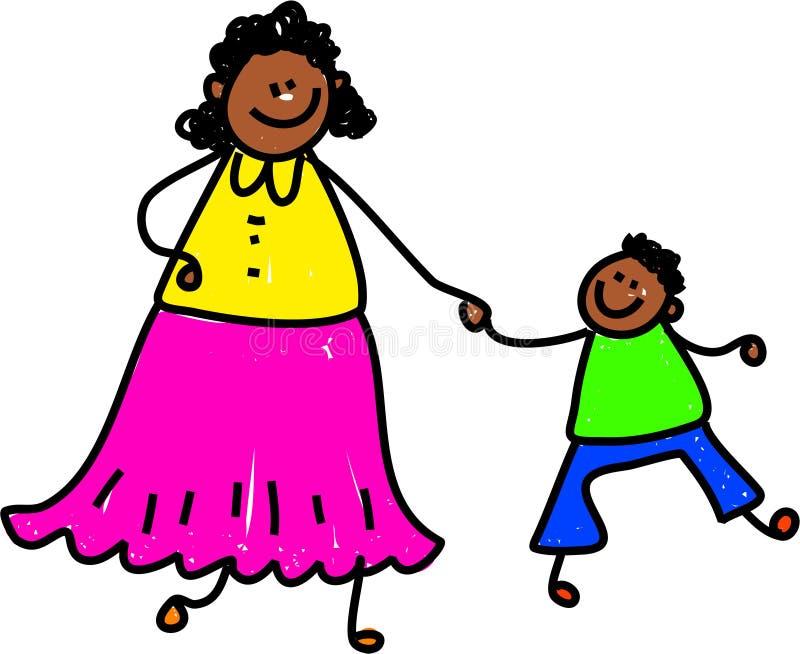 Madre e figlio illustrazione di stock