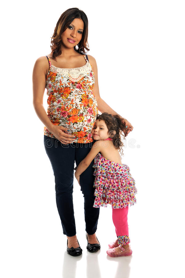 Madre e hija hispánicas foto de archivo libre de regalías