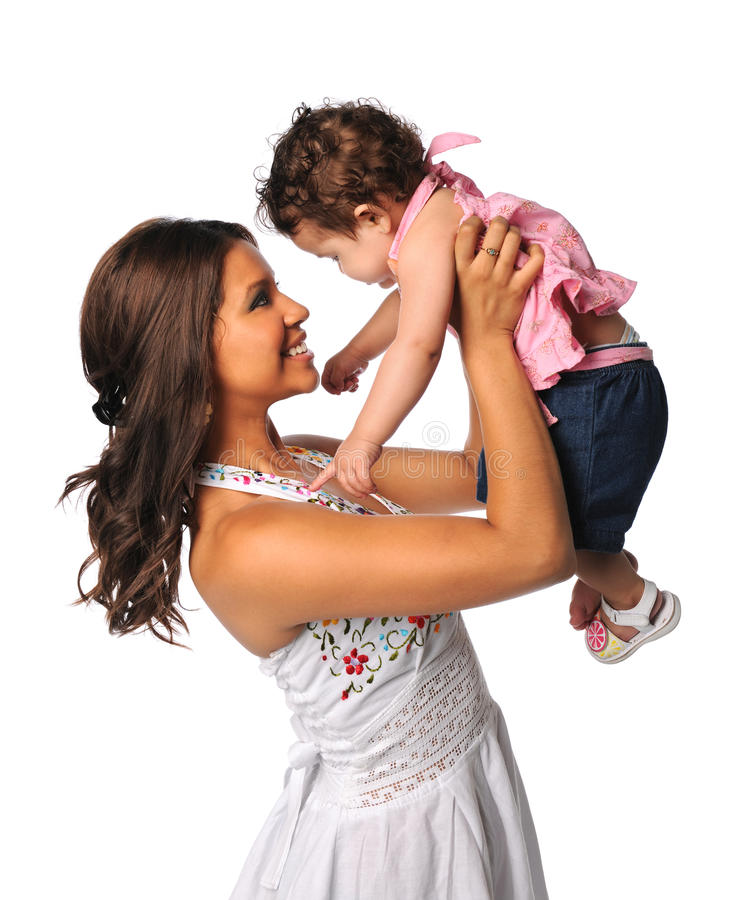 Madre e hija hispánicas imagenes de archivo