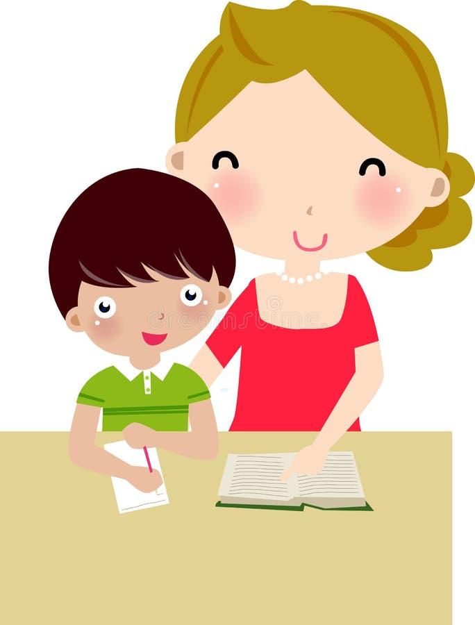 Madre e hijo stock de ilustración