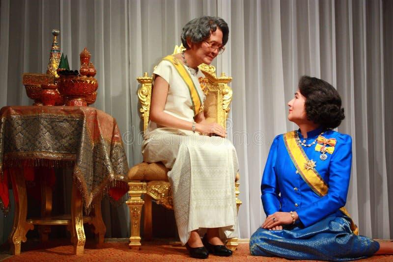 madre e sorella del re attuale della Tailandia, fotografie stock libere da diritti