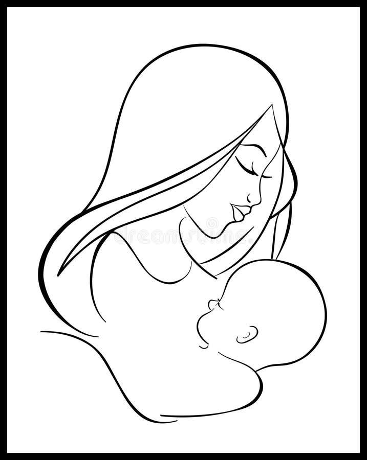 Madre ed assistenza all'infanzia illustrazione di stock