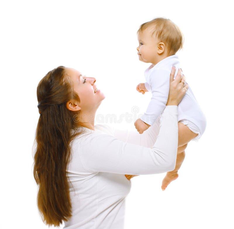 Madre felice con il bambino fotografia stock