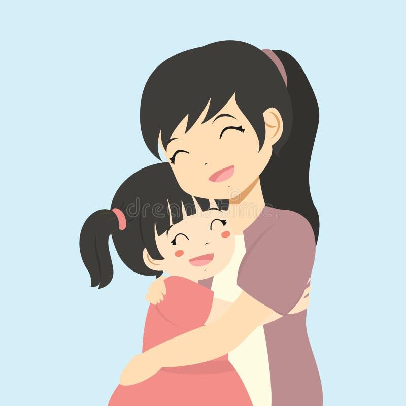 Mamma E Figlia Disegno.Madre E Figlia Che Si Abbracciano Illustrazioni Vettoriali E
