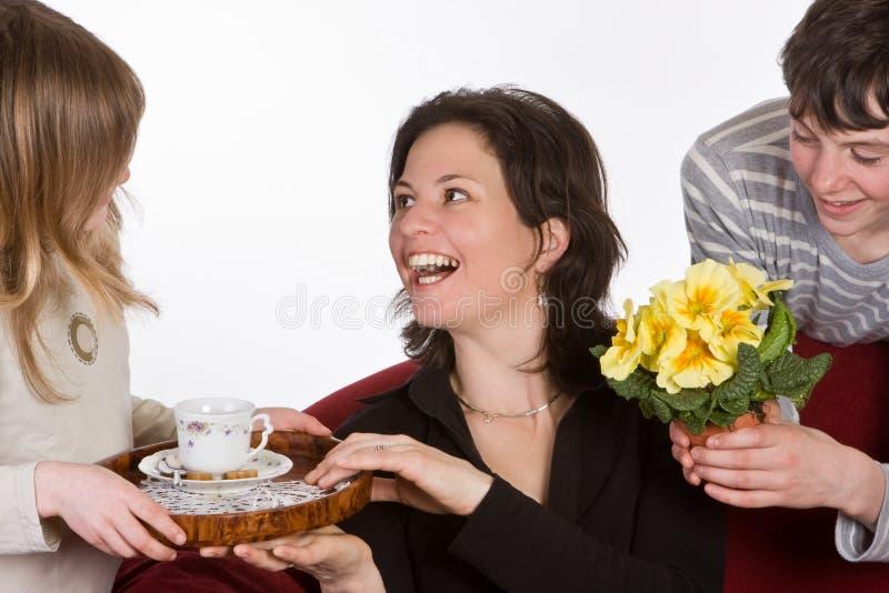 Madre feliz fotografía de archivo libre de regalías