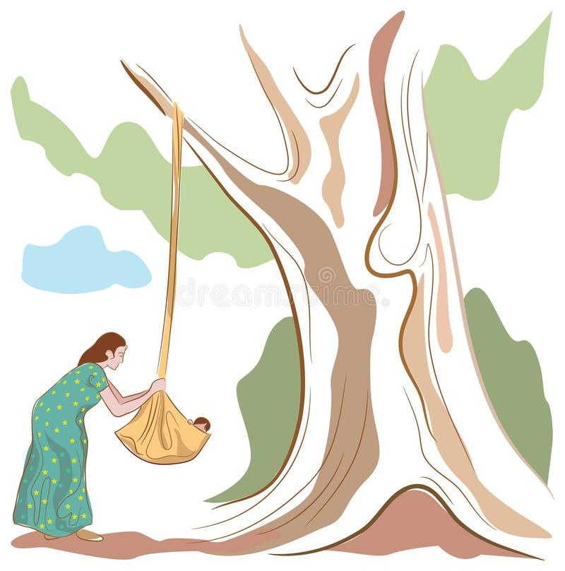 Madre india stock de ilustración