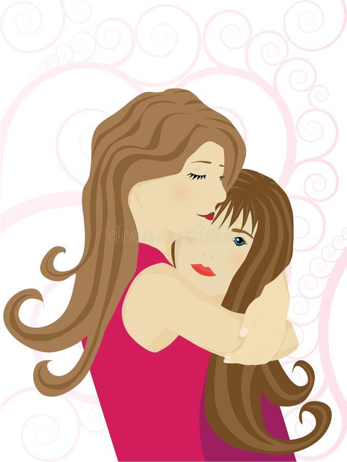 Madre joven con su hija libre illustration