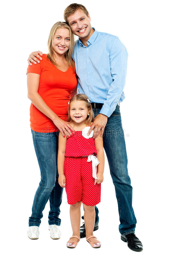 Madre, padre e hija linda fotografía de archivo