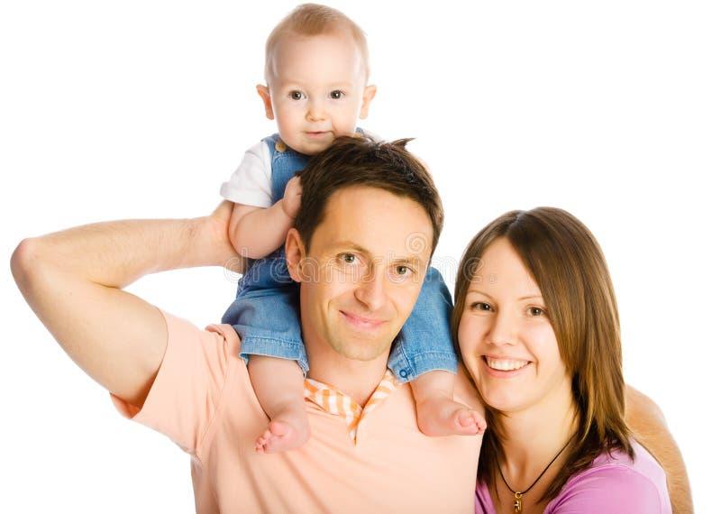 Madre, padre e hijo felices foto de archivo libre de regalías