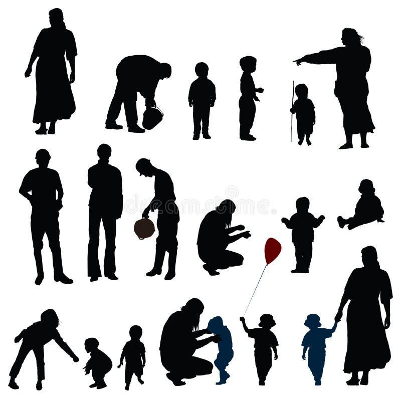 Madre, padre y niño ilustración del vector