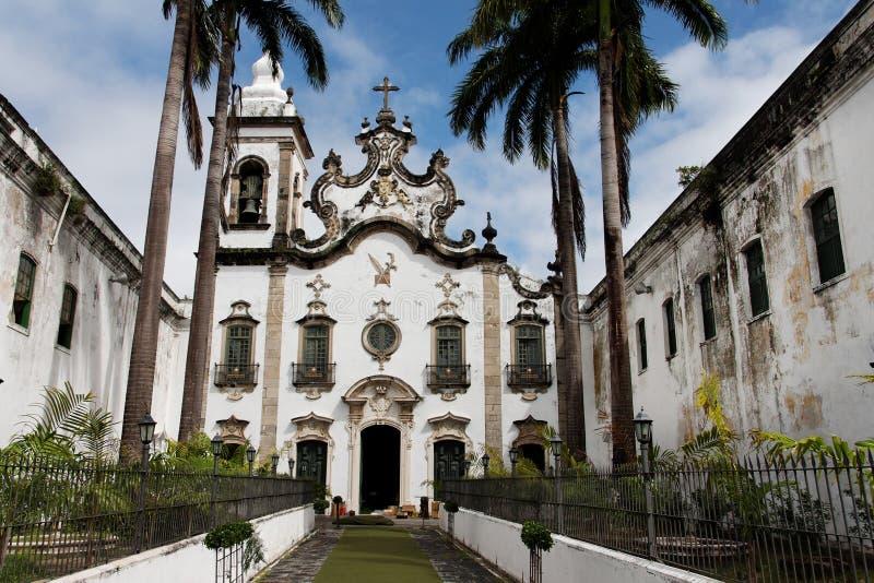 Madre santa della cappella Recife Brasile di Carmo fotografie stock