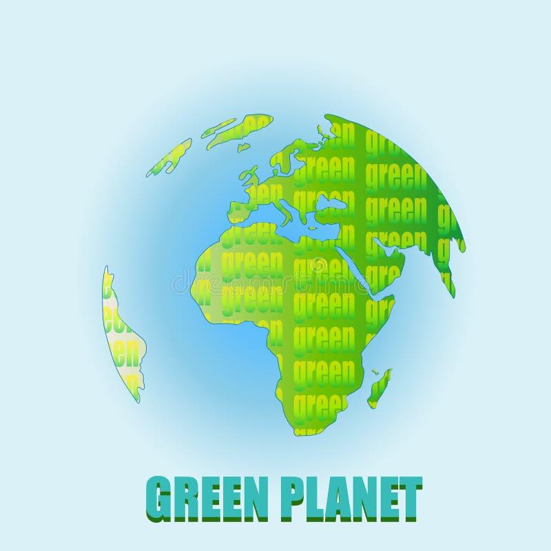 Madre tierra verde o planeta verde imágenes de archivo libres de regalías